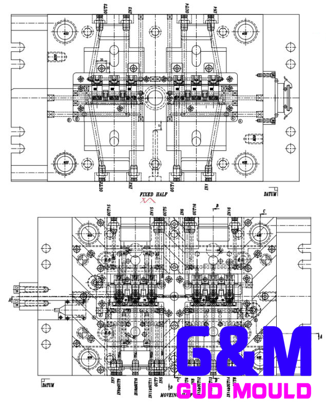 Design of injection mold for Mueller relay housing in Germany