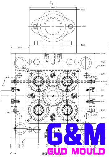Design of Injection Mold for Thread-removal of Controller Joint
